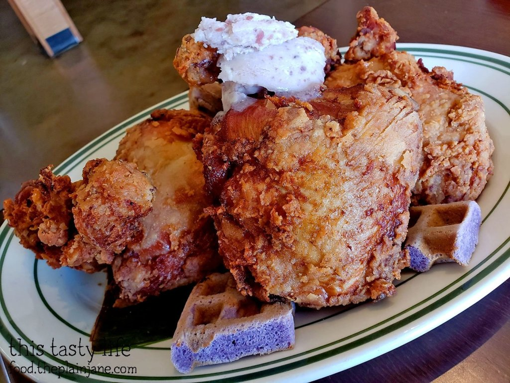 Chicken & Ube Waffles - Gaya Gaya - San Diego, CA