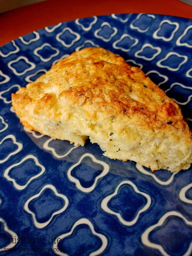 Savory Scones with Cheese, Garlic, and Herbs