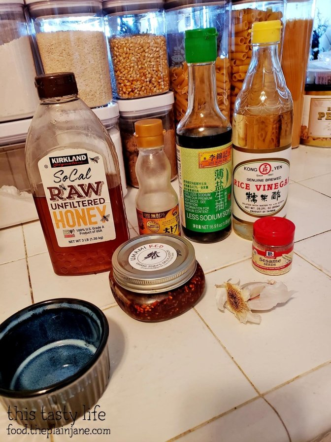 Stuff to make your own dumpling sauce