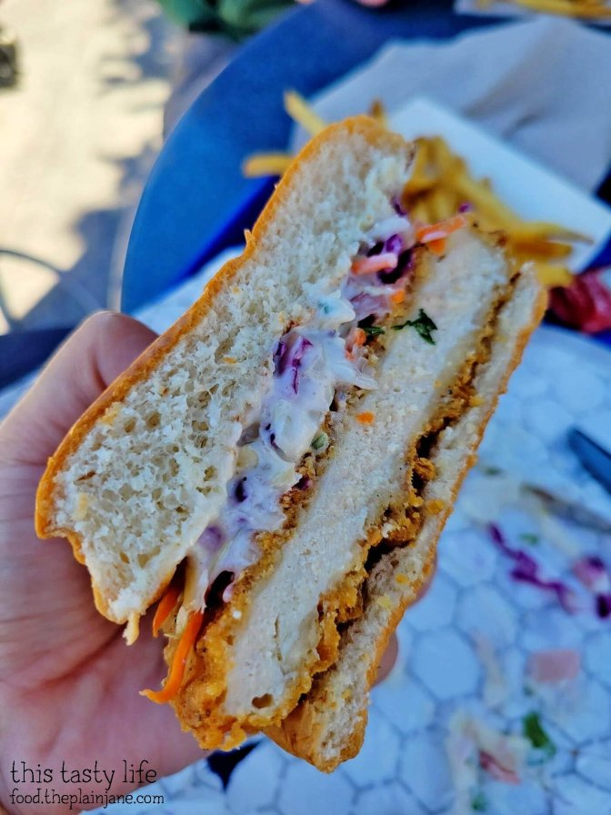 Fried Chicken Sandwich at Galactic Grill in Disneyland
