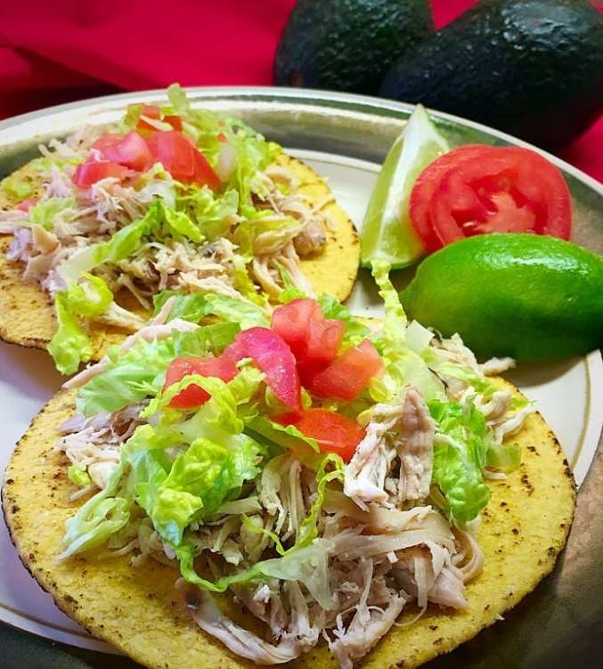 Mexican Chicken Tostada Food For Young Athletes