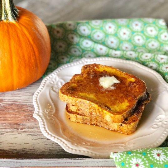 Food Allergy Friendly Gluten Free Pumpkin French Toast that is also Dairy Free and Nut Free