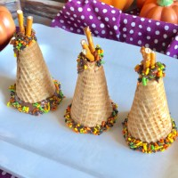 Allergy Friendly Ice Cream Sugar Cone Thanksgiving Teepee's