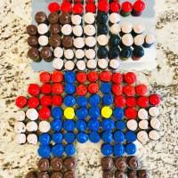 How to Throw a Super Mario Bros Mario Kart Birthday Party & DIY Mario Pixel Cupcake Cake