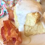 Sour Cream Biscuits Gluten Free & Nut Free with Bacon Gravy
