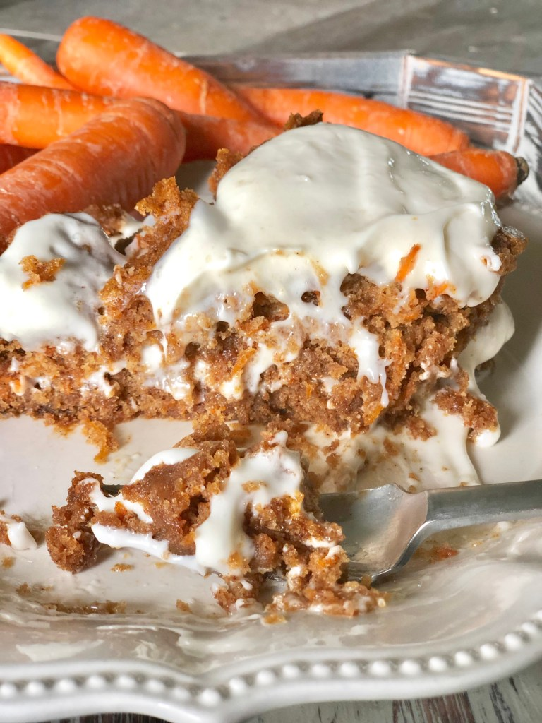 Carrot Cake with Cream Cheese Frosting | Gluten Free, Vegan, Soy Free & Peanut Free