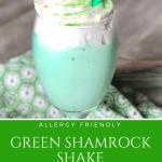 Green Shamrock Shake St. Patty's St. Patrick's Day   Allergy Friendly Gluten Free, Peanut Free, Tree Nut Free, Egg Free