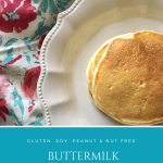 Homemade Buttermilk Pancakes from Scratch | Gluten Free, Soy Free, Peanut Free, Tree Nut Free