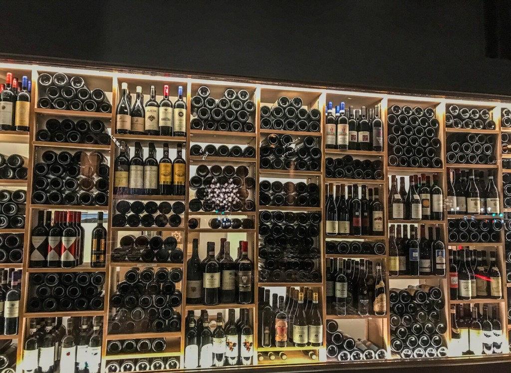 The Wine Display at Chow Morso Osteria in Denver, CO