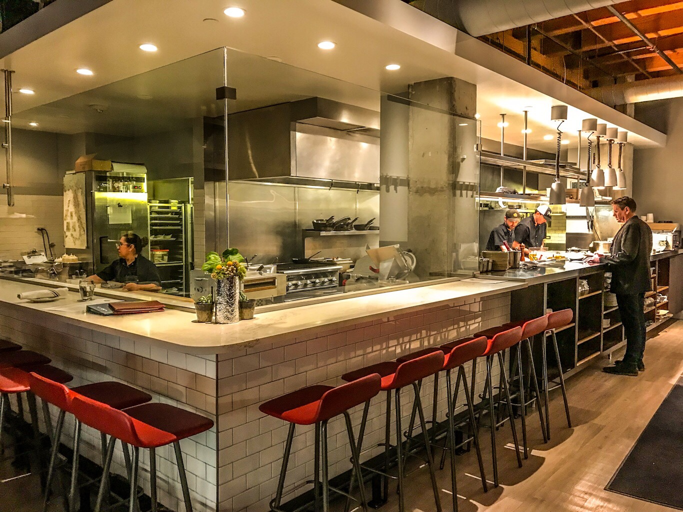 The Pasta Chefs Counter at Chow Morso Osteria in lower downtown Denver, CO