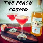 The Peach Cosmopolitan is a perfect summer martini! A twist on the classic Cosmo. Made with sweet Deep Eddy Peach Vodka, Cointreau, Lime Juice, Cranberry Juice, & Simple Syrup.