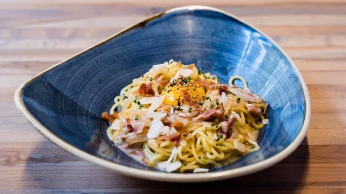 Chow Morso Osteria is located in downtown Denver, CO. This Denver Italian Eatery is home to the best Carbonara I've ever had.