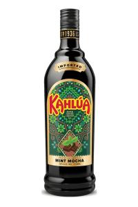 A bottle of Kahlua Mint Mocha Liqueur