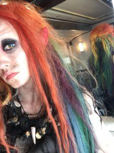 Dirk Gently, The Beast, Rainbow hair