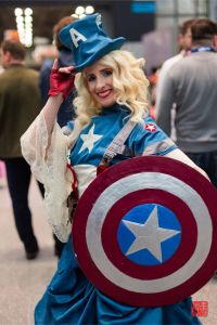 WWII Captain America Ballgown by wotchertonks7