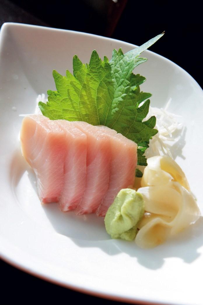 Hamachi (Yellow Tail) Sashimi.
