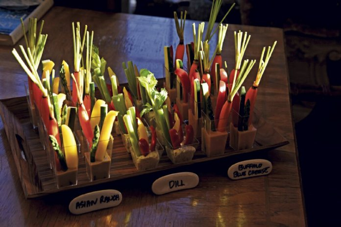 Veggie cups and dips