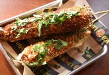 El Taco Luchador's Elote Callejero - grilled corn