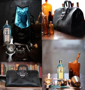 Bombay Sapphire East and bag