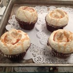 Caramel meringue buttercream with caramel drizzle