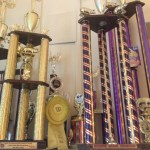 Just a few of Chef's BBQ trophies