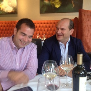 Matthieu Grassin and Patrick d'Aulan enjoy talking about wines