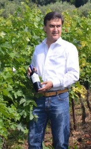 Alberto in the vineyard with Cembali--BDP star red wine