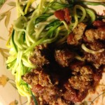 Serving idea - Mexican-spiced turkey meatballs with zucchini noodles