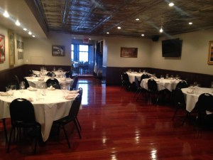 Handsome private dining/party spaces