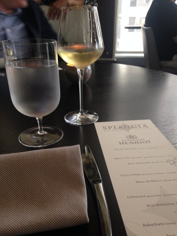 Spiaggia's menu with Henriot pairings