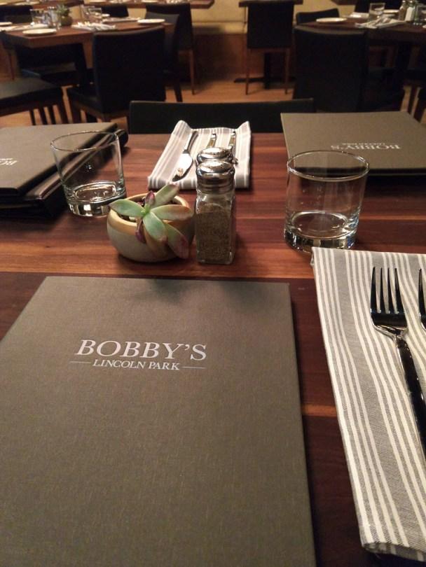 Bobby's elegant place setting
