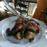 River Roast cooking class's fabulous chicken entree with rich pan sauce