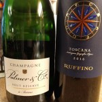 Palmer Brut Reserve and IGT Modus Toscana, both from Palm Bay Importers