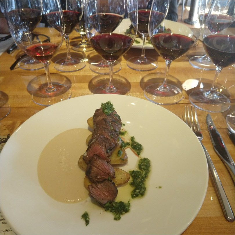Two's magnificent steak dish with Mandrarossa wines