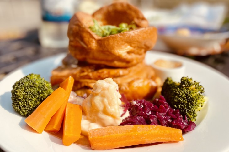 Plate of Sunday Lunch