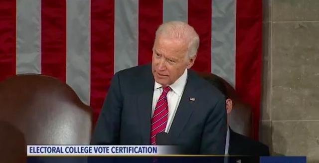 Joe Biden Certifies Electoral College Vote