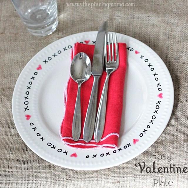 XOXO Valentine's Day Plates