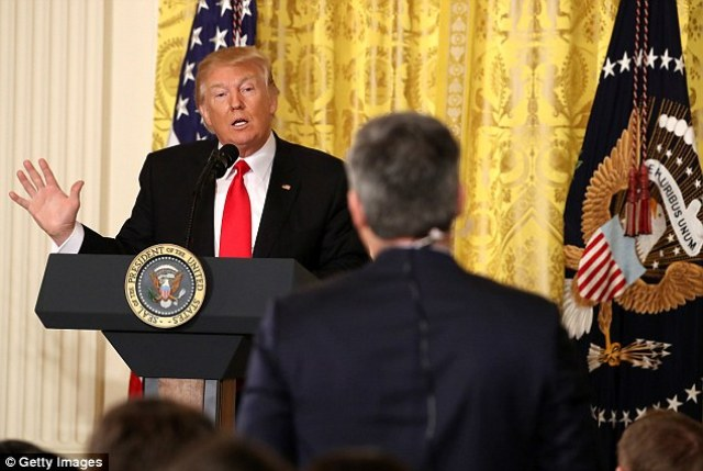 President Trump Tells CNN's Jim Acosta He's Changing The Network From 'Fake News' To 'VERY Fake News'
