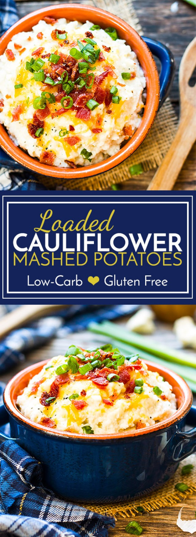 Loaded Cauliflower Mashed Potatoes