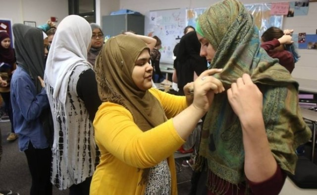 DANGEROUS MINDS! Female Students at Illinois School forced to wear hijab