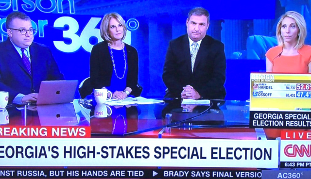 CNN Reaction To Georgia's Special Election Results: A Picture Paints a Thousand Words