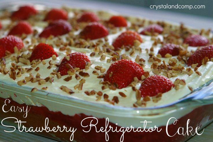 Strawberry Refrigerator Cake~Easy!
