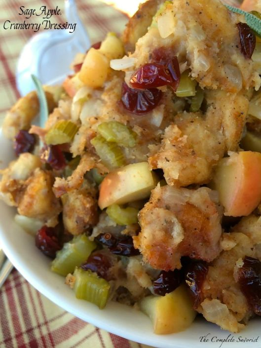 sage apple cranberry dressing