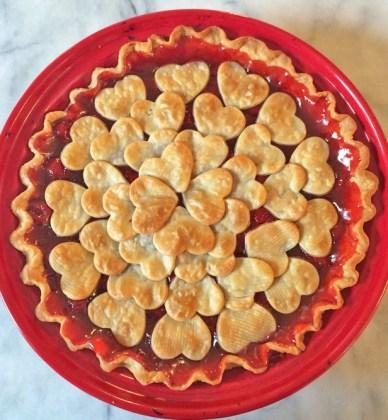 Valentine's Day Cherry Pie