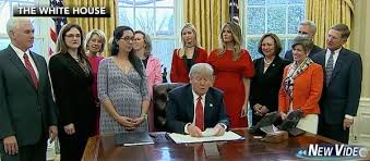 President Trump Signs Two Bills Focuses On Women To Pursue Careers
