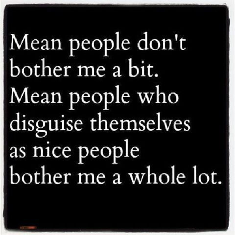 Mean people don't bother me!