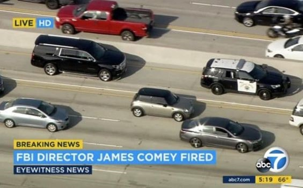 Local News Had A Chopper Follow James Comey's Vehicle
