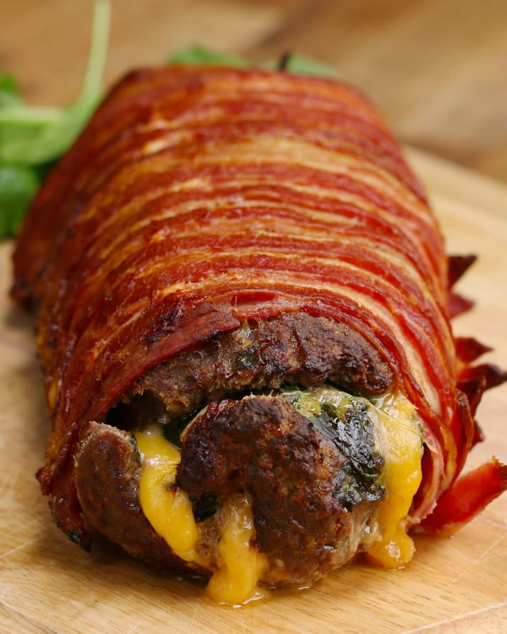 The Bacon-Wrapped Burger Roll