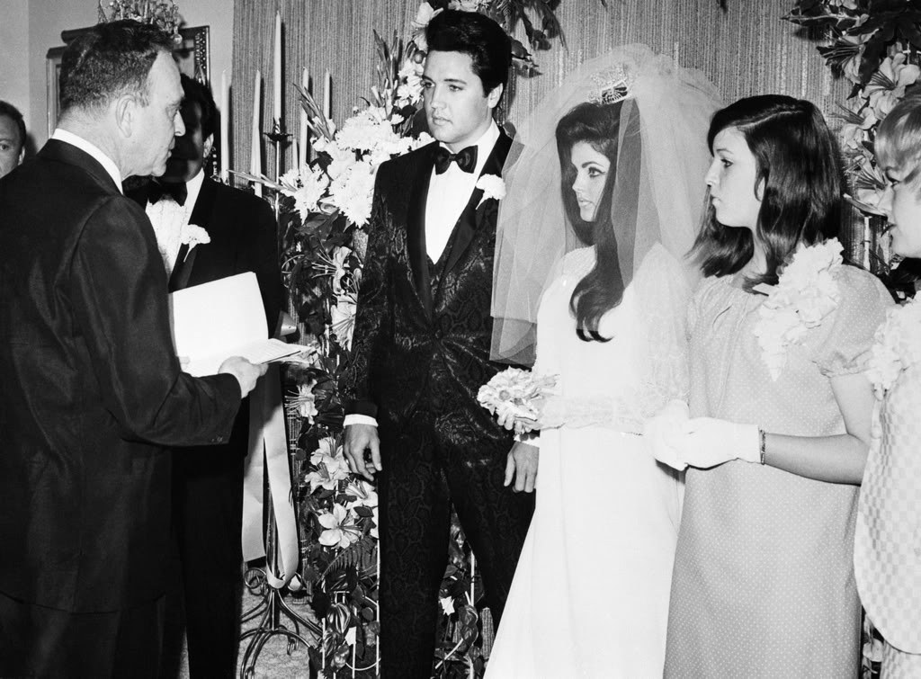 People Notice Blonde Lady In Elvis And Priscilla's Wedding Photos, Then Learn She's A Kardashian