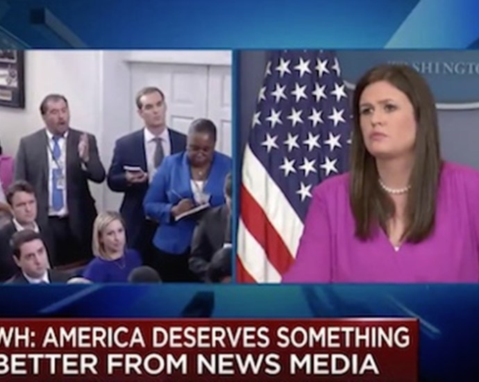 Reporter SNAPS at Sarah Huckabee Sanders at the White House Press Briefing